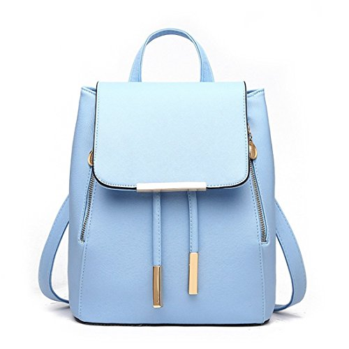 Zainetto da donna, borsa a spalla, in similpelle, da viaggio Light Blue