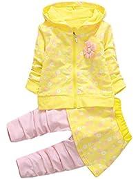Ropa Bebé, Amlaiworld Trajes de niña Camisas de Abrigo con Capucha + pantalón Falda Ropa