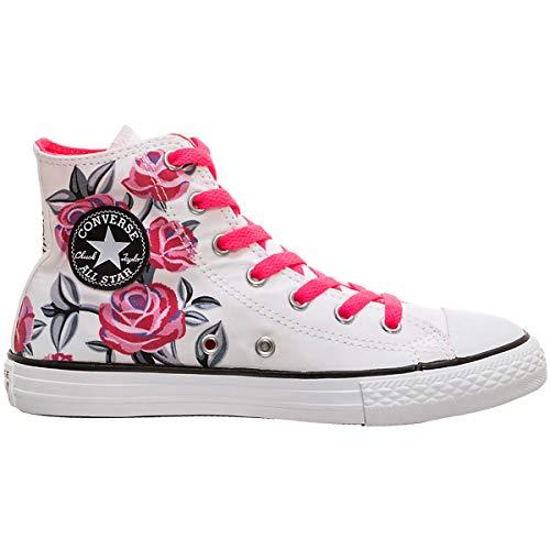 r All Star Hi 663623C Kinder-Sneaker White/Racer Pink Gr. 38 (US 5.5) ()