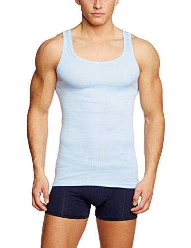 Calida Herren Unterhemd Athletic-Shirt Twisted Cotton Blau (eisblau 680)