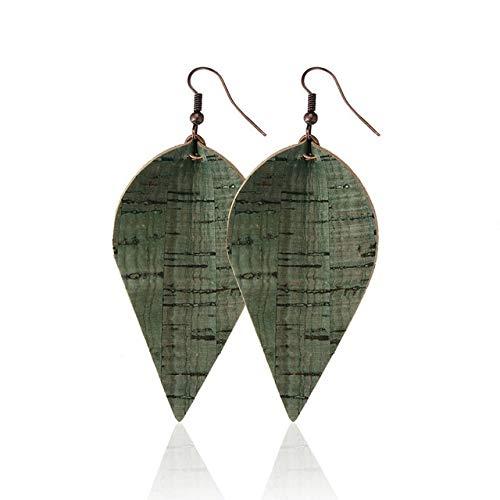 KBWL Orecchini Nuovi orecchini in legno Moda tinta unita Orecchini foglia Gioielli Accessori donna Regali Vendita caldaG