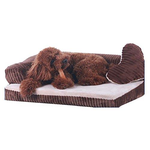 DAN Deluxe mousse à mémoire de forme orthopédique Canapé Salon Lit pour chien , coffee , 50*45cm
