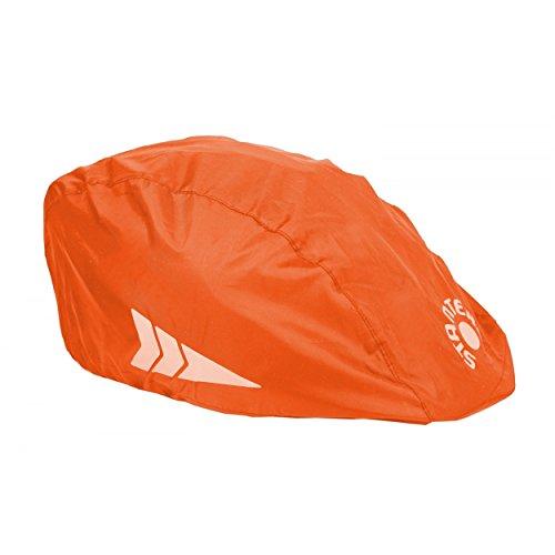 Helm-Regenüberzug Universal Regenschutz für Fahrradhelme Regenkappe Schutzbezug, Farbe: Orange, Größe: Einheitsgröße