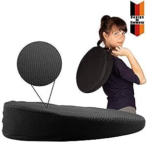 Seatwith Bequemes Keilkissen – Sitzkeil – Rund Ø 34cm mit Anti-Rutsch Bezug und Tragegriff sorgt für entspanntes Sitzen…