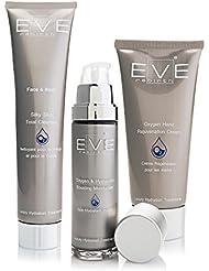 EVE REBIRTH Kit : Soin Hydratant Visage, 50 ml + Crème pour Mains, 100 ml + Nettoyant Visage/Corps, 200 ml