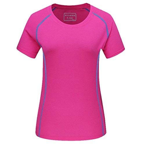Damen Übergröße Aktiv T-Shirt Laufen Fitness Schnelltrocknend Kurzarm Oben Sport Abschlag