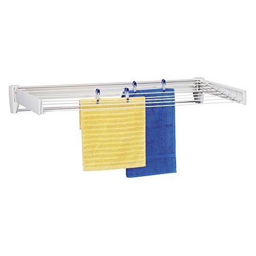 Leifheit Wandtrockner Telegant 81 Protect Plus zum Ausziehen, hängender Wäschetrockner im kleinen, kompakten Format, Wäscheständer ist ausziehbar und ideal fürs Badezimmer oder den Balkon