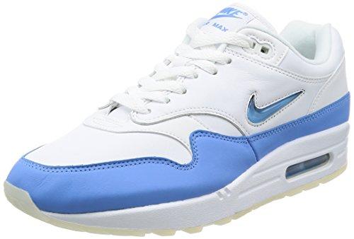 Nike Herren Air Max 1 Premium SC Gymnastikschuhe, Blau (White/University Blue/University Blue), 44 EU (Usa 1 Max Air)