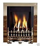 Living Flame Gas Fire Brass 'Blenhiem' Slimline