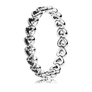 Pandora Ring Herzen 925er Sterling Silber 190980
