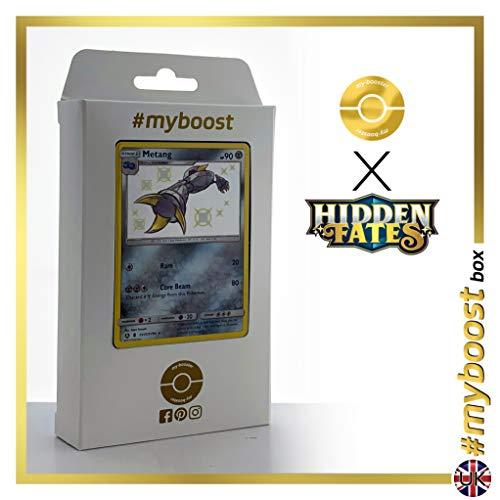 Metang SV31/SV94 Variocolor - #myboost X Sun & Moon 11.5 Hidden Fates - Box de 10 cartas Pokémon Inglesas