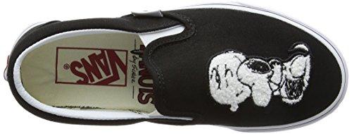 Vans Unisex-Erwachsene Peanuts Classic Slip-On Sneaker Schwarz (Peanuts/ Best Friends/true White)