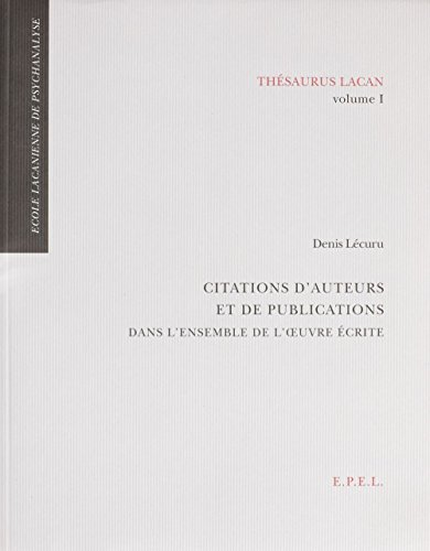 Download e book for kindle thesaurus lacan volume 1 citations d download e book for kindle thesaurus lacan volume 1 citations dauteurs et de by denis lecuru ccuart Image collections