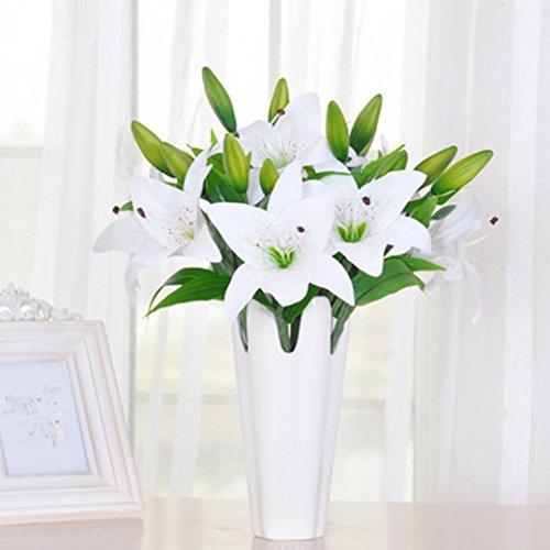 kolylong-5pcs-new-silk-artificial-flower-lilies-bouquet-3-heads-home-wedding-floral-decor-white