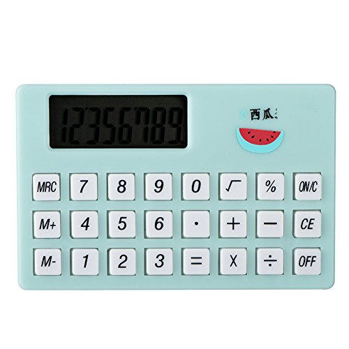 VBESTLIFE Cartoon Taschenrechner,Mini tragbare süße Rechner,Candy Farbe Taschenrechner für Kinder Geschenk(Grün)