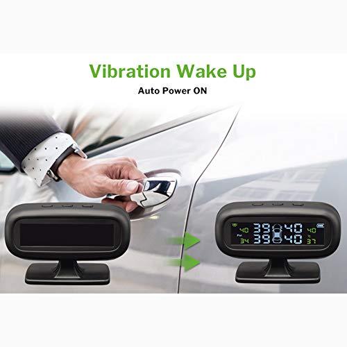 Kampre Sistema di monitoraggio della Pressione dei Pneumatici per autovetture Sistema Universale di monitoraggio degli Pneumatici per Pneumatici Monitor di Pneumatici con sensore Interno ed Esterno