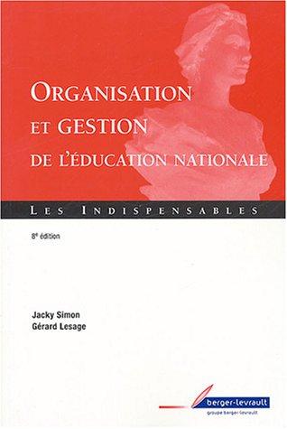 Organisation et gestion éducation nationale
