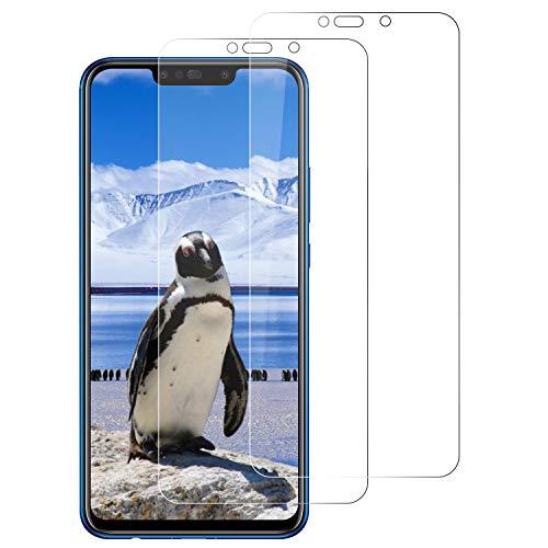 DOSNTO Panzerglasfolie für Huawei P Smart Plus [2 Stück], 9H Härte Panzerglas Bildschirmschutzfolie, bläschenfrei, Anti-Kratzen, HD Schutzfolie für Huawei P Smart Plus