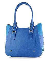 Butterflies Women's Handbag (Blue) (BNS 0546BL)