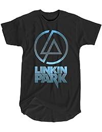 LaMAGLIERIA Camiseta Hombre Vintage Look Linkin Park Cod. Grpr0098 - t-Shirt dnm Plug in Vintage con Estampa Rock