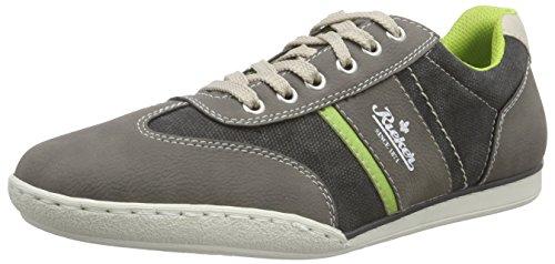 Rieker 19111 Sneakers-Men, Sneaker Basse Uomo Grigio (Grau (cement/anthrazit/limette/chalk / 41))