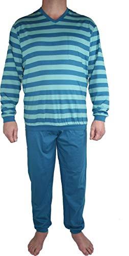 Seidensticker Herren Anzug Lang Zweiteiliger Schlafanzug, Blau (Petrol 811), Large (026)