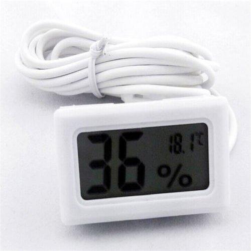 Kicode Negro LCD Digital incrustado termómetro Sonda Meter higrómetro para Las Aves de Corral incubadora Acuario Reptil de Efecto Invernadero