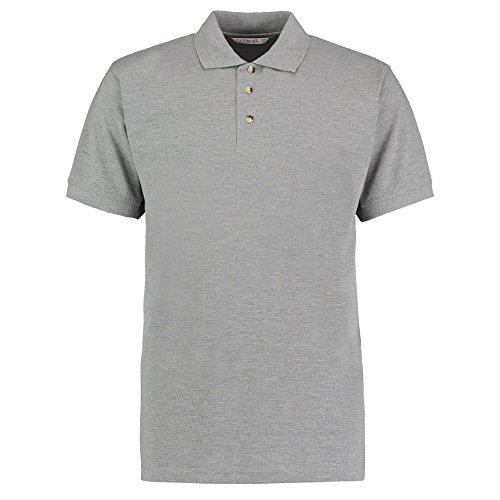 Kustom Kit Herren Modern Poloshirt Grau Meliert