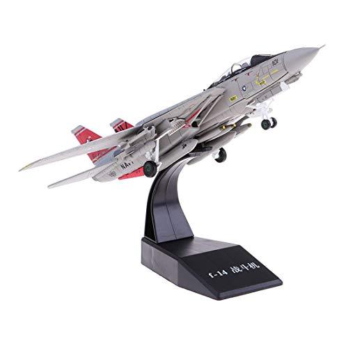 HarmonyHappy 1:100 Metall Militär Flugzeug Militärflugzeug Modell Flugzeugmodell Ornament Geschenk - F14
