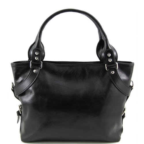 Tuscany Leather Ilenia - Sac à épaule Marron foncé Sacs à bandoulière en cuir Noir