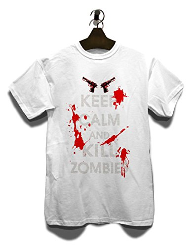 Keep Calm And Kill Zombies T-Shirt Weiß