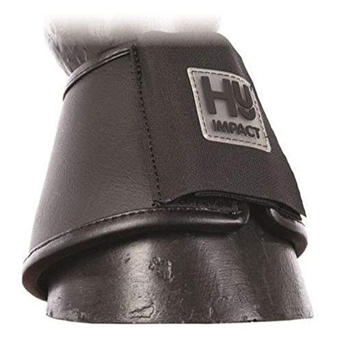 HyIMPACT Leder Hufglocken (2 Stück) (S) (Schwarz)