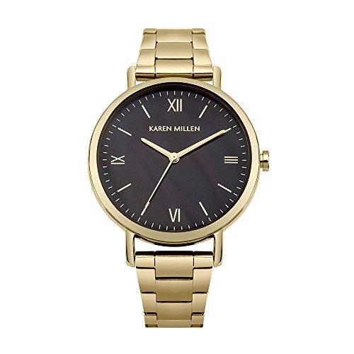 Reloj Mujer Karen Millen y Pulsera Metal Dorado KM159BGM