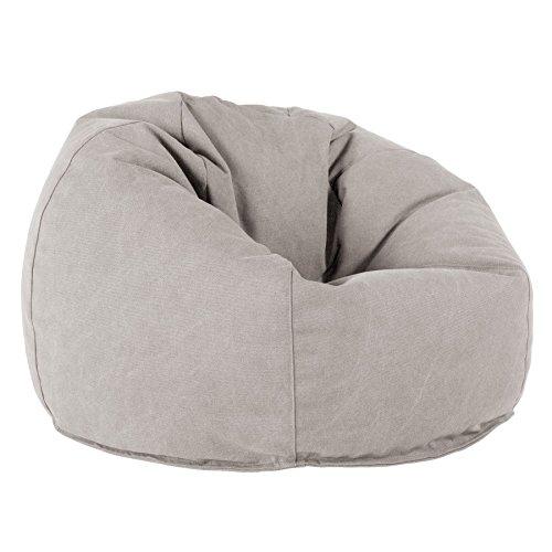 Lounge Pug®, Puff Redondo, Vaquero Desgastado - Gris