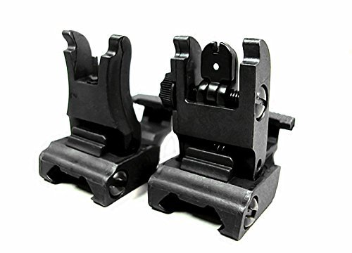 Fireclub Front and Rear Sight for AR-15 M16 Flat Top Rifles Low Profile Flip-Up Sight Set -