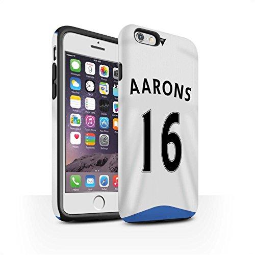 Offiziell Newcastle United FC Hülle / Matte Harten Stoßfest Case für Apple iPhone 6 / Cissé Muster / NUFC Trikot Home 15/16 Kollektion Aarons