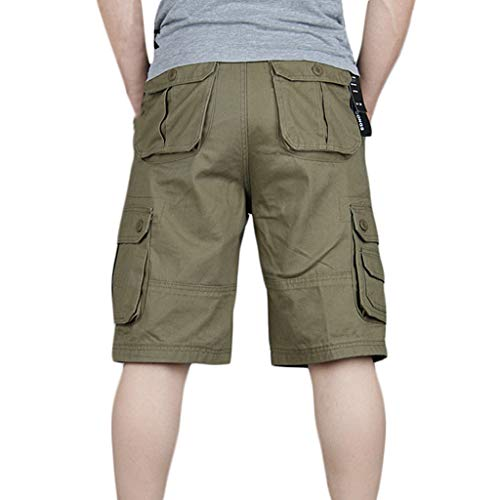 Dwevkeful Cargo Pant Herren New Style Baumwolle Multi-Pocket Overalls Shorts Fashion Chino Liga Straigh Pockets Pleated Freizeit Sport Taschen Classic Pleated Chino