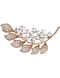 Mansiyaorange Traditional Indo Western Designer Fancy Wedding Party Wear Golden Brooch Sari Pin For Girls And... - B01MPVQM7H