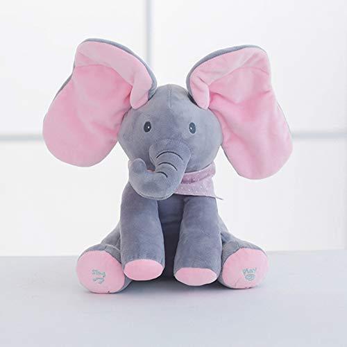 Unionup Juguete de Peluche para Niños Peekaboo Elefantes Muñeco de Peluche Canta...