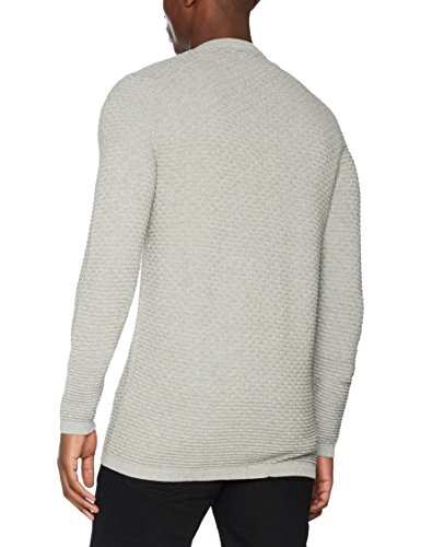 SELECTED HOMME Herren Strickjacke Shhnewdean Zip Cardigan Sts Grau (Light Grey Melange)
