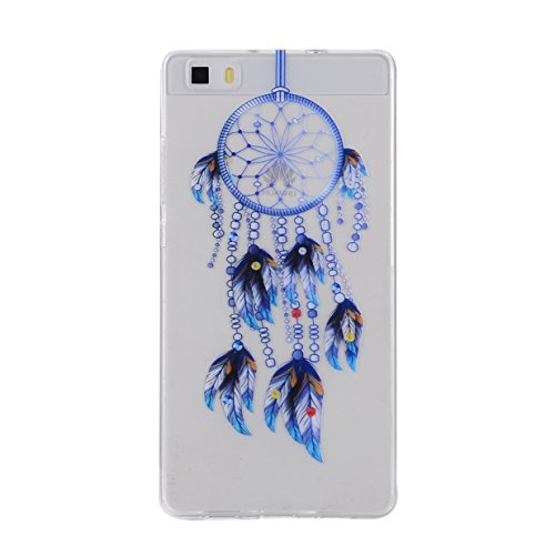 WYSTORE TPU Silicone Case for Huawei P8 Lite Gel Rubber Cover Soft Flexible Shell Bumper Smooth Lightweight Skin Ultra Thin Shell Creative Design Sleeve Anti-Scratch Anti-Shock Cover Protective Durabl A3
