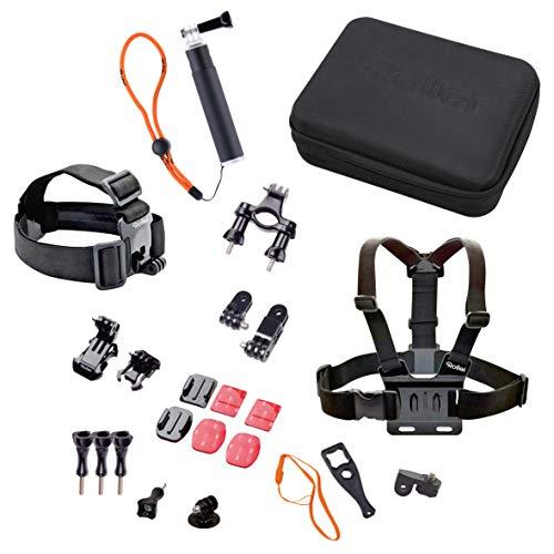 Rollei Actioncam Zubehör Set Outdoor - 23-teiliges Set, ideal zum Klettern, Wandern und andere Outdoor-Aktivitäten - Für Rollei Actioncams und GoPro