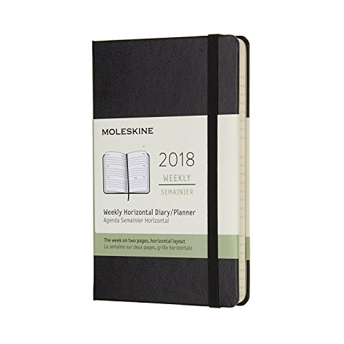 2018 Moleskine Pocket Weekly Horizontal Diary 12 Months Hard