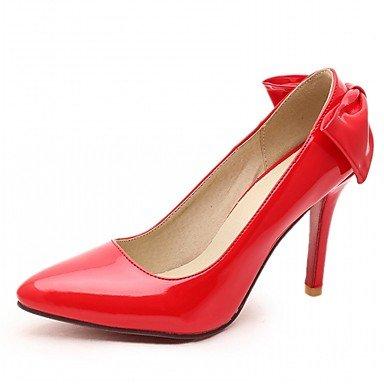 Talloni delle donne Primavera Estate Autunno Dress Comfort in similpelle ufficio & carriera Stiletto Heel Casual Bowknot Nero Rosa Rosso Grigio Pink