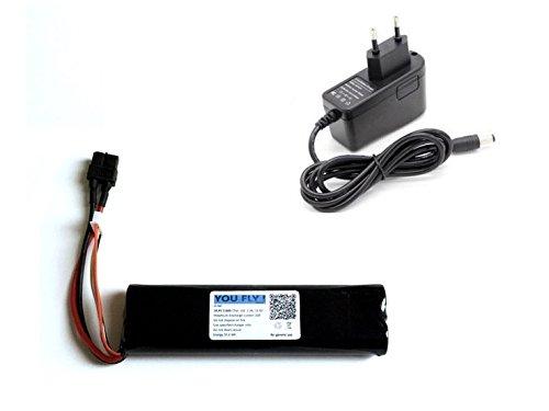 YOUFLYstore Batteria Li-Ion 3100 mAh 4S 14.4-16.8V + caricabatteria droni Aerei RC eBike per Bici, droni e Auto RC, Illuminazione a LED, Ground Station FPV, Monitor, modellismo, Utensili, Video-Audio