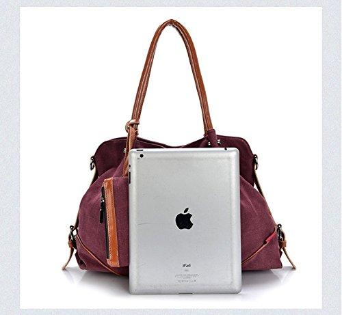 Molimode Donne Moda Tela Borse Crossbody Bag Portafoglio Cellulare Portachiavi 3pcs Set Blu