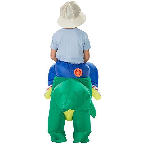 Backbuy Halloween Kostüm Maskerade Party Aufblasbare Kleidung Teenager Dinosaurier Aufblasbare Kleidung Größe 6-12 Jahre