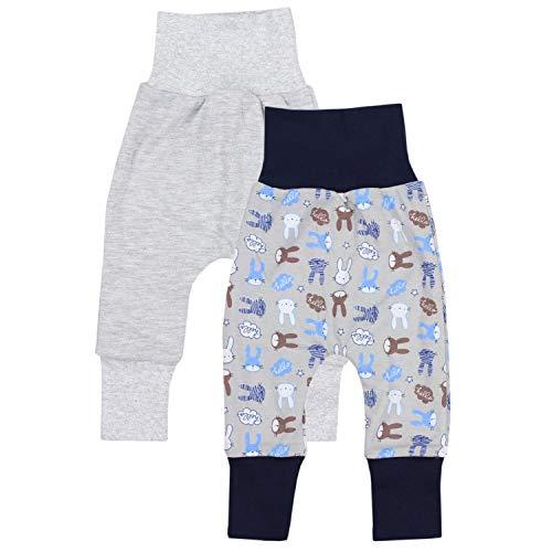 TupTam Baby Jungen Mitwachshose 2er Pack, Farbe: Farbenmix 3, Größe: 68/74 -