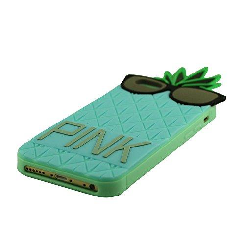 """Ananas Entwurf ''PINK'' Serie, Weich Schutzhülle Hülle für iPhone 6 6S 4.7"""", Prämie Silikon-Gel Case Cover Bumper Soft Case + 1 Stylus-Stift Blau"""