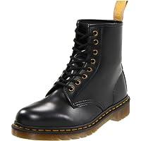 حذاء عسكري فيجان 1460 أملس بلون أسود من دكتور مارتنز - - 8 Women/7 Men